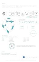 Carte de visite - ARTopenKUNST / Exposition collective / Du 21 au 23 février 2014 / Anciens Etablissements Vanderborght, Bruxelles, Belgique