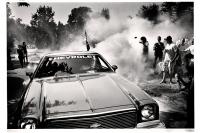 Il en résulte du bruit, beaucoup de fumée, et des traces sur le bitume. Horion-Hozémont, 2013.