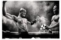 Dieu Edingwe VS Kabo Wa Kabo, lors du Big Impact 2013. Bronks. Bruxelles.